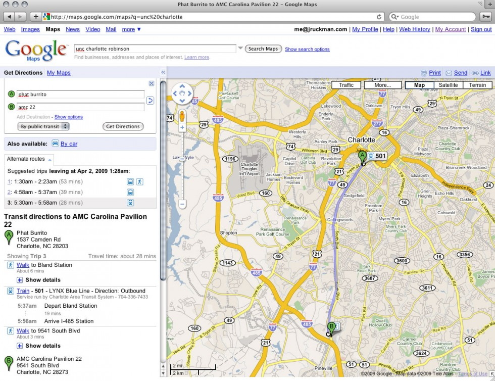 Google Maps now has transit directions for Charlotte | CLT Blog