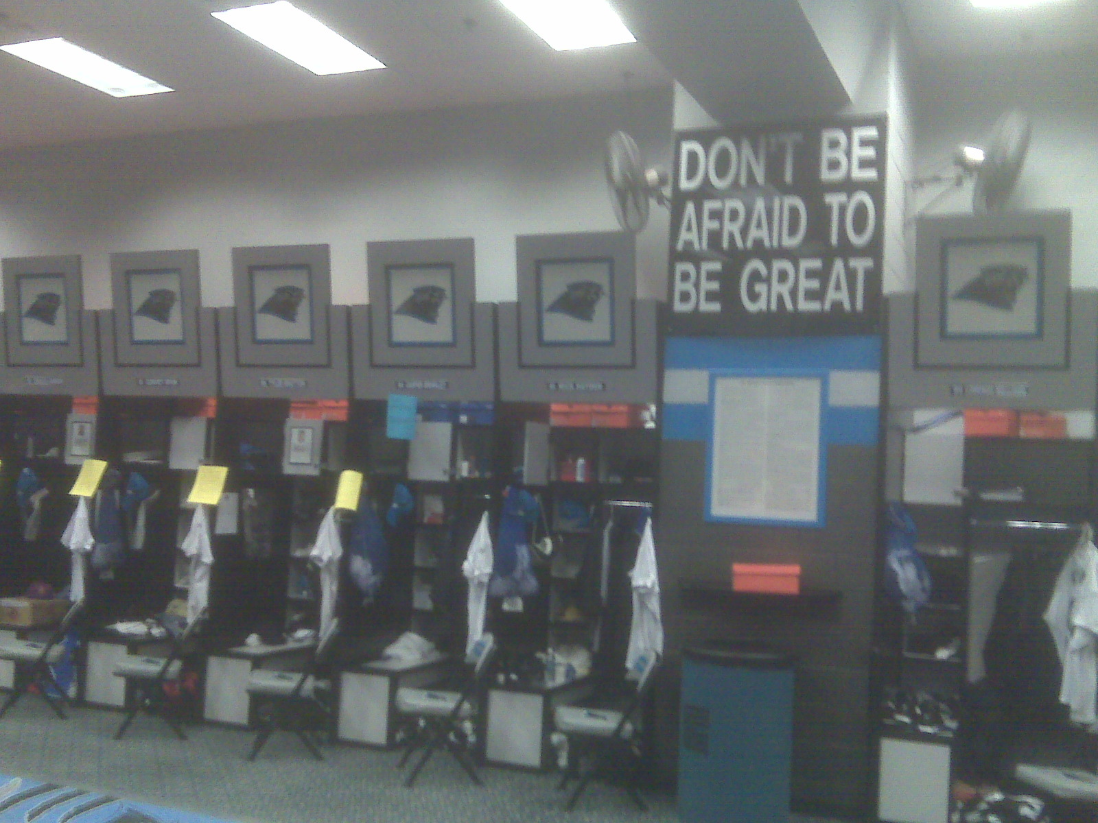 "Panthers Locker Room - ""Don't Be Afraid To Be Great"""