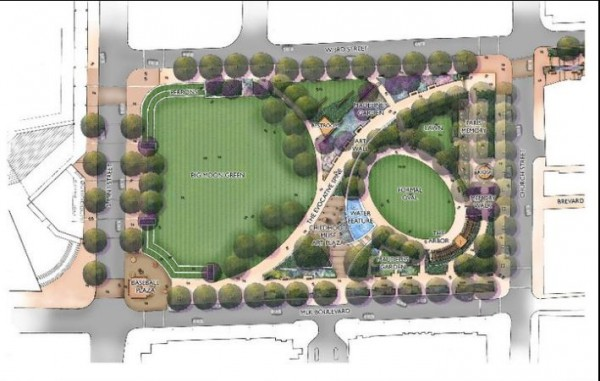 Siteplan for Romare Bearden Park
