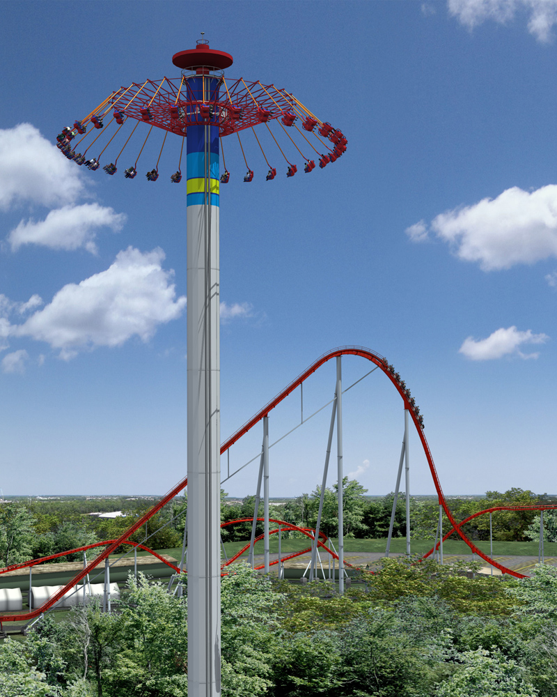 video and photos of windseeker a 301fttall spinning
