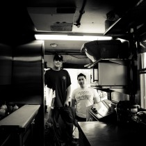 Blake Scott and Franklin Zambrano of Goody Woody's food truck