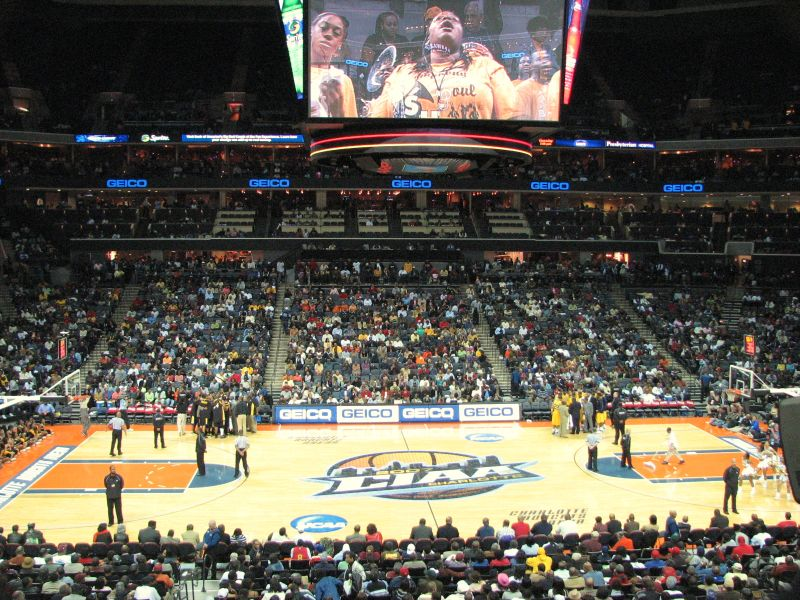 The CIAA tournament bring thousands of fans and millions of dollars to uptown Charlotte. (Photo by Kevin Coles)