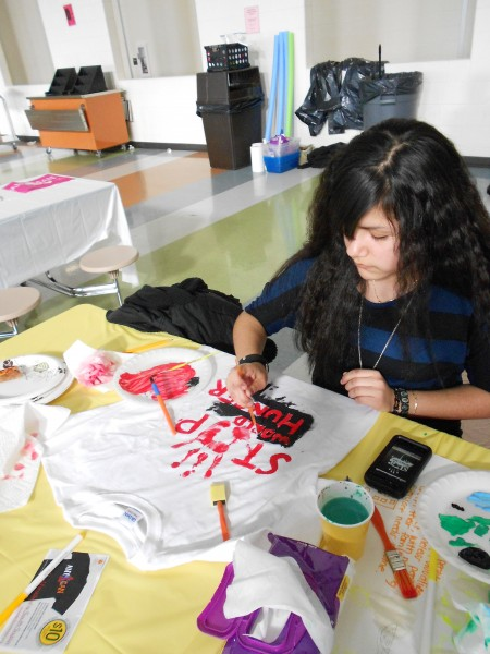 Students at Rocky River High School recently held their Any1Can Painting Party.