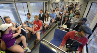 No Pants Light Rail Ride – Charlotte